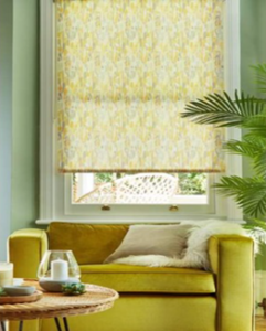 Frescco Chartreuse window blinds